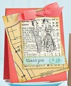 Vintage Thank You Card by @Dawn Cameron-Hollyer McVey