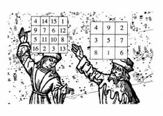 Magic Squares represent a mathematical convergence of the verbal/syntactical and the visual/compositional. From the simple and elegant Lo Shu sequence from Ancient China to the baroque and heady formulations of the Renaissance magicians, the mystery and fascination of magic squares have a long and interesting cultural history that spans over five thousand years, four continents and dozens of systems of thought. Five Thousand, Rational Numbers, Bad Spirits, Magic Squares, 5 Elements, Decoding, Ancient China, Sacred Geometry, Continents