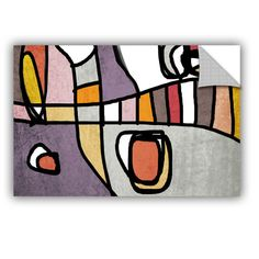 "ArtWall Irena Orlov Vibrant Colorful Abstract 3-1 Wall Decal Size: 36"" H x 48"" W x 0.1"" D"