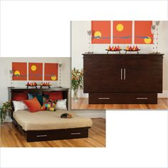 Creden-ZzZ Queen Murphy Bed Hall Cabinet with Free Mattress $1,699.00