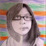 split face portrait