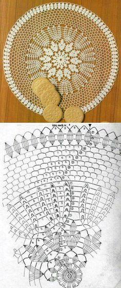 Crochet table center: 50 models, photos and graphics - New decoration styles - Ganchillo carpetas - Filet Crochet, Crochet Diagram, Crochet Chart, Thread Crochet, Crochet Stitches, Crochet Circles, Crochet Doily Patterns, Lace Patterns, Crochet Motif
