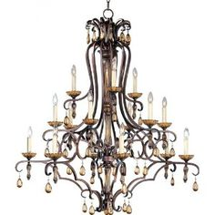 Maxim Lighting 22288FL 15 Light Dresden Chandelier, Filbert