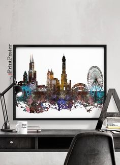 Chicago Chicago print Chicago poster Illinois wall art