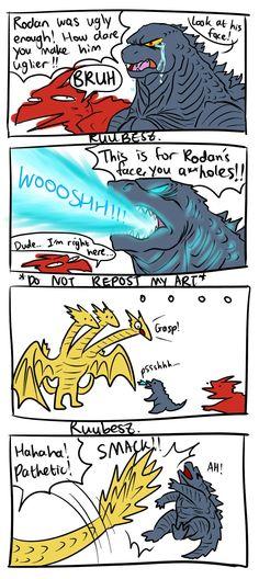 All Godzilla Monsters, Godzilla Comics, King Kong, Kamen Rider Ryuki, Funny Test Answers, Stupid Funny, Anime, Nissan Gt, Tumblr