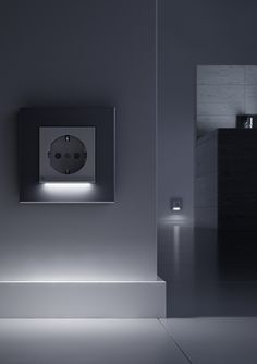 Gira Socket Outlet with LED Orientation Light Home Automation System, Smart Home Automation, Lighting System, Lighting Design, Function Room, Take You Home, Home Technology, Heating Systems, Led