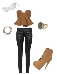 """Au Natural"" by queen-of-fab on Polyvore featuring Balenciaga, Marni, Oliver Peoples, Topshop and Otazu"