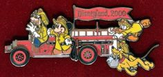 Pin 1767 - DIsneyland Fire Engine - Fab 4