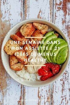 21 balanced meal ideas - Lucile in Wonderland- 21 idées de repas équilibrés – Lucile in Wonderland 1 week on my plate # 21 balanced meal ideas - Healthy Breakfast Recipes, Easy Healthy Recipes, Healthy Cooking, Lunch Recipes, Healthy Snacks, Easy Meals, Healthy Eating, Diet Snacks, Dairy Recipes