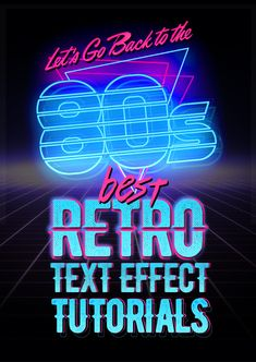Best Retro Text Effect Photoshop Tutorials - Grafik Design Photoshop Design, Photoshop Tutorial, Photoshop Fonts, Photoshop Text Effects, Photoshop Filters, Typography Tutorial Photoshop, Photoshop Website, Retro Graphic Design, Graphic Design Tutorials