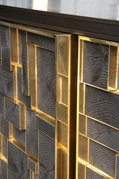 PHOENIX SIDEBOARD Bronze, charred wood