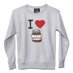 Sweat Femme I LOVE NUTELLA Casual Work Outfits, Mode Outfits, Work Casual, Fashion Outfits, Funny Fashion, Funny Outfits, Kawaii Clothes, Mode Vintage, Business Fashion