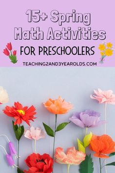 This collection of spring math activities go perfectly with the spring theme. Each one works number recognition and counting skills that can be done with preschoolers at home or in the classroom setting. Preschool Activities At Home, Preschool Art Activities, Spring Activities, Time Planner, Printable Puzzles For Kids, Spring Books, Rainbow Card, Spring Theme, Classroom Setting