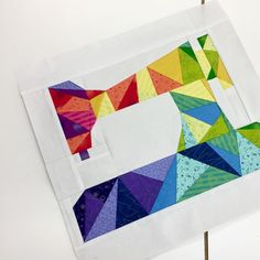 And @kellerko knocked out another one of these beauties, too. This is like her 400th? #pmqgsewday  *  *  *  #modernquilting #paperpieced #pmqg
