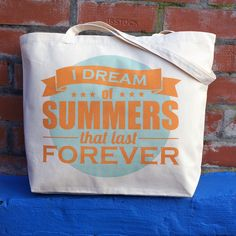 I Dream Of Summers Super Size Beach Tote  £14.00