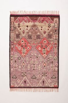 Boho Home: Anthropologie Double Diamond Wool Hand Knotted Rug ~ multiple sizes available. Boho style must have for your living room, hall or bedroom. Textiles, Casa Mimosa, Hanging Furniture, Decor Inspiration, Berber, Natural Fiber Rugs, Home Rugs, My New Room, Floor Rugs