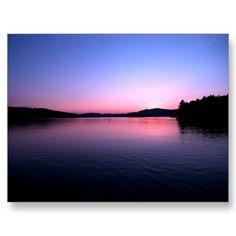 Sunset on Blue Mountain Lake  Adirondack Mountains