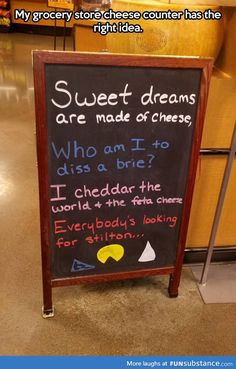 The proper way to sell cheese