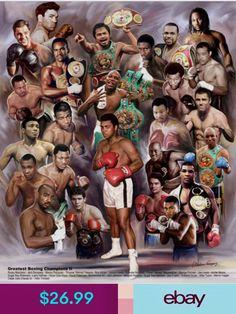Legends of Boxing Print Ali Pacquaio Leonard Duran Hearns Tyson Lennox Lewis Roy Jones Jr Mohamed Ali, Lennox Lewis, Archie Moore, Combat Boxe, Floyd Patterson, Larry Holmes, Boxing Events, Boxing Posters, Avengers