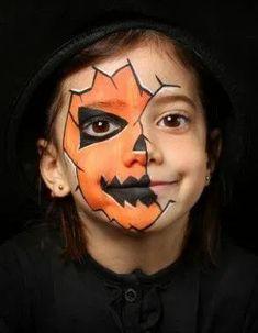 Deer Face Paint, Leopard Face Paint, Mermaid Face Paint, Pumpkin Face Paint, Pumpkin Painting, Cheetah Face, Halloween Face Paint Scary, Halloween Makeup For Kids, Halloween Makeup Looks