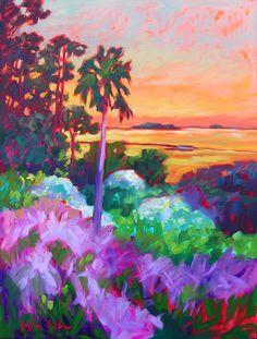 Sunset and Sweetgrass, Kiawah, South Carolina. Painting by Betty Anglin Smith, Anglin Smith Fine Art (http://anglinsmith.com/)