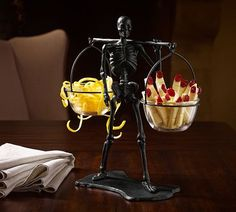 Condiment skeleton stand.