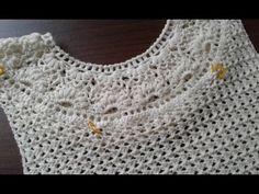 Пуловер крючком с круглой кокеткой. Часть 10. Соединяем детали (кокетка + спинка). - YouTube