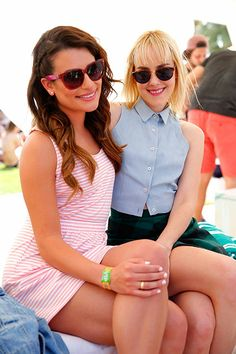 Lea Michele and Jena Malone / Coachella