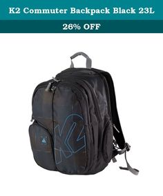 K2 Commuter Backpack Black 23L. Built to get you to work and play, the commuter is setup to handlethe daily grind and good times with ease. TSA laptop approved, andready to carry all you snow, skate and lifestyle essentials, no matterwhat the on snow or in city day brings. Key Features of the K2 Commuter Backpack 23L: 23L Volume TSA checkpoint friendly Padded Computer Pocket Skateboard Mounting System Fold Down Back Panel Tuck Away Water Bottle Pocket Boarding Pass, Sunglasses, Digital...