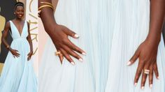 Here's how Deborah created Lupita Nyong'o's manicure for the ‪#‎Oscars‬.   Deborah applied a layer of Gel Lab Base Coat to make the polish last twice as long as a traditional polish, without the harsh gel lights  She then applied two coats of the pale pink shimmer La Vie En Rose, a new polish from our Spring 2014 collection, Spring Reveries  To complete, she finished with a layer of Gel Lab Top Coat
