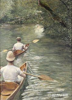 카누 (Les Perissoires)  귀스타브 카유보트(Gustave Caillebotte)