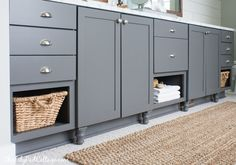 Customizing Builder Grade Cabinets (Grey Paint – Thorwood by Graham) | The Lillypad Cottage