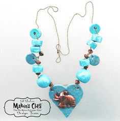 Makin's Clay® Blog: Shades of Turquoise Necklace by Irit Shalom