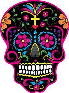 DIA De Los Muertos Skulls | Dia de los Muertos Skull 2 by ~Hazardoflove on deviantART