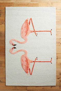 Anthropologie Pink Flamingos Rug Swatch