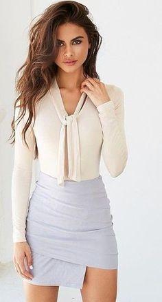 #summer #tigermist #outfits   White + Pastel Blue