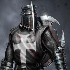 A descriptive look at the Crusades' 1095 - 1291 A. Medieval Knight, Medieval Fantasy, Dark Fantasy, Knight Tattoo, Armor Tattoo, Norse Tattoo, Viking Tattoos, Crusader Knight, Christian Warrior