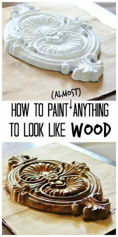 Here's an easy tutorial on how to paint (almost) anything to look like wood!