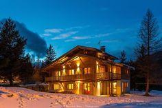 Location vacances chalet Serre Chevalier 1500: chalet de nuit