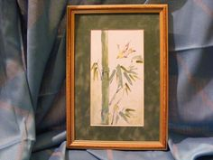 Bird on a Bamboo Tree - Japanese Style Enamel Picture