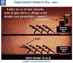 Líder no es el que manda, sino el que sirve y dirige a los demás con propósito y amor. INFO:http://cursoshao.blogspot.com.es/ Organización Heiwa to Ai (HAO) Por un mundo pacífico y feliz!! Luis Parker - terapeuta de HAR -