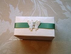 20 x Favor Boxes. English Country Weddings, Country Style Wedding, Wedding Favor Boxes, Favour Boxes, Butterfly Wedding, Green Satin, Small Gifts, Wedding Stationery, Wedding Styles