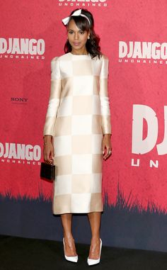 Kerry Washington from Celebs Wow in White