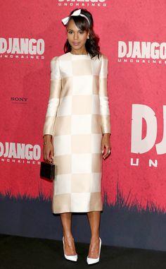 Kerry Washington from Celebs Wow in White | E! Online