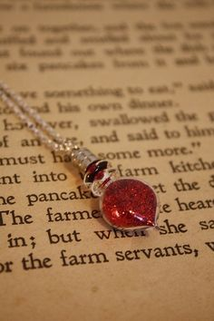 Vial Necklace - Red Love Potion