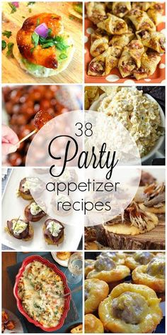 38 Party Appetizer Recipes perfect for Christmas and holiday parties, football, tailgating and super bowl parties and more. Plus tips for staging the perfect cheese board and vegetable tray. Finger Food Appetizers, Appetizers For Party, Appetizer Recipes, Snack Recipes, Cooking Recipes, Party Dip Recipes, Appetizer Dips, Easy Cooking, South Your Mouth