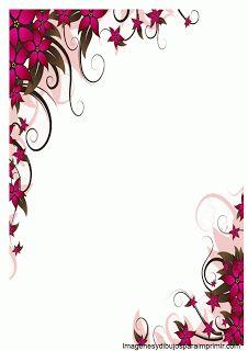 Borde con flores para word