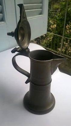 Antique zink jug 250 years old German by Mikropragmatakia on Etsy