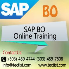 SAP BO Training | SAP Business Objects Training Online: Tectist providing you the best SAP Business Objects online training. We offer SAP BO online training and all SAP courses online training by real time experts. Contact: 3034597808,3034594744 URL: http://www.tectist.com/sap-bo-online-training.html #sapbotraining #saptrainingonline #saponlinetraining