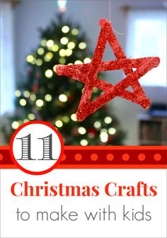 11 Christmas Crafts to Make with Kids this Month -- Fun ideas your children will love! I especially love the candy cane play dough Christmas Craft Projects, Christmas Crafts To Make, Christmas Activities, Winter Christmas, Holiday Crafts, Holiday Fun, Christmas Holidays, Christmas Ideas, Holiday Decorations